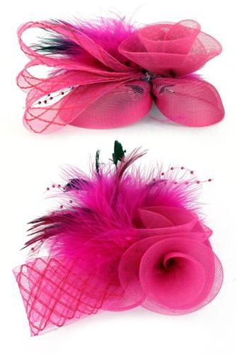 Roze Broche met Tule