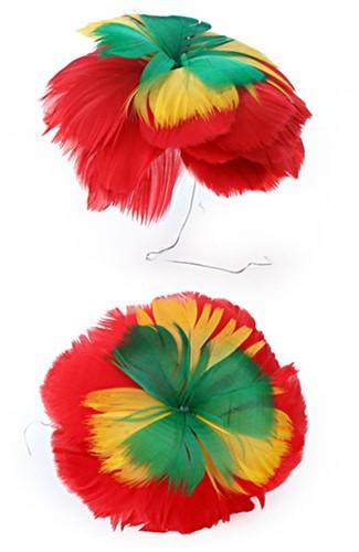 Bloem rood geel groen 18cm