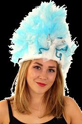 Bontmuts carnaval blauw wit