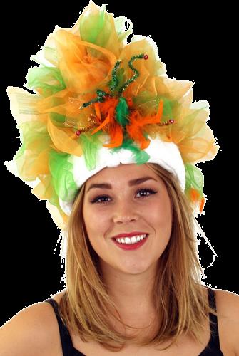 Bontmuts carnaval oranje groen