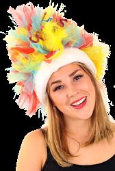 Bontmuts carnaval rood blauw geel
