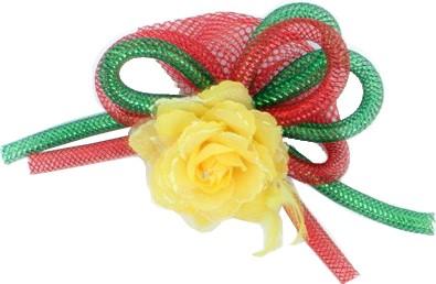 Broche Bloem Rood Geel Groen