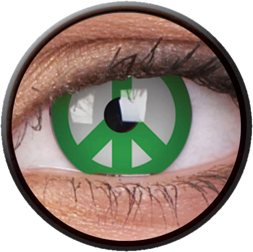 Crazy Green Peace Contactlens