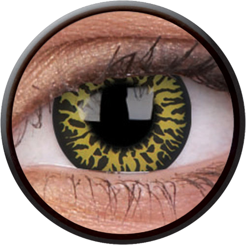 Crazy Yellow Eclipse Contactlens