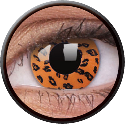 Crazy Yellow Leopard Contactlens