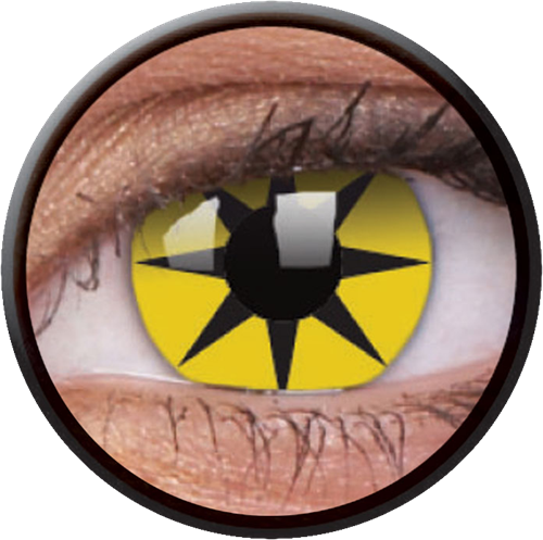 Crazy Yellow Star Contactlens