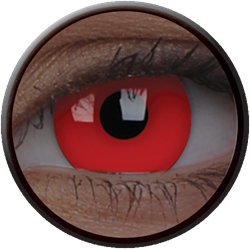 Crazy Glow UV Glow Red Contactlens