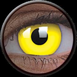 Crazy Glow UV Glow Yellow Contactlens