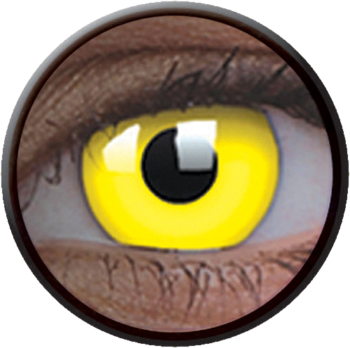 Crazy Glow UV Glow Yellow Contactlens