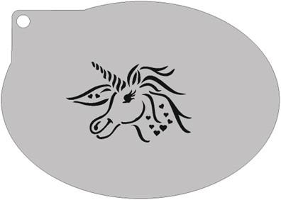 Schminksjabloon Unicorn