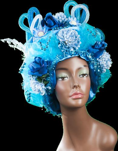 Fantasiepruik blauw