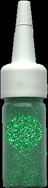 Laser Lichtgroen Glitter Puff