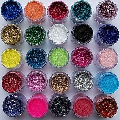 Glittertattoo Glitters set 25 Kleuren