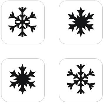 Sneeuwster Mini Glittertattoo Sjabloon