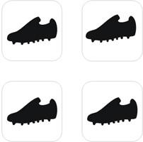 Sjabloon Glittertattoo `Voetbalschoen` (50) | Sjablonen