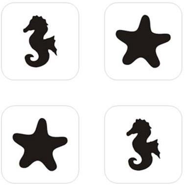 Zeepaard Mini Glittertattoo Sjabloon