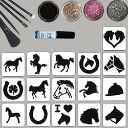 Paarden Glittertattoo Set