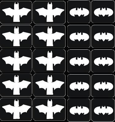 Batman Glittertattoo Set