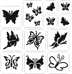 Vlinders Glittertattoo Sjablonenset