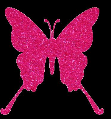 Vlinder Glittertattoo Sjabloon