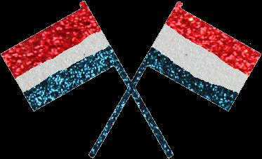 Vlaggen Glittertattoo Sjabloon