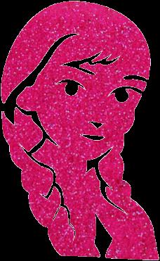 Prinsesje Glittertattoo Sjabloon