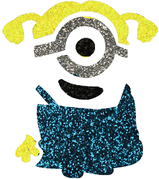 Minion Glittertattoo Sjabloon