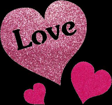 Love Glittertattoo Sjabloon