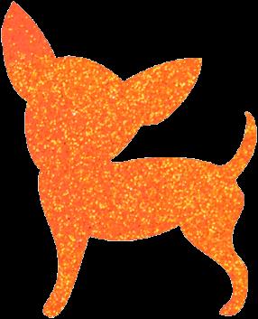 Chihuahua Glittertattoo Sjabloon