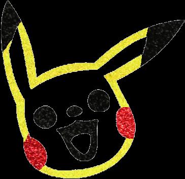 Pikachu Glittertattoo Sjabloon