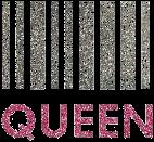 Streepjes Code Queen Glittertattoo Sjabloon