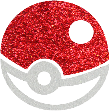 Pokeball Glittertattoo Sjabloon