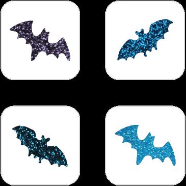 Vleermuis Mini Glittertattoo Sjabloon