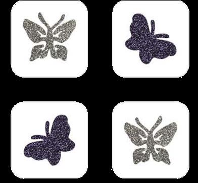 Vlinder Mini Glittertattoo Sjabloon