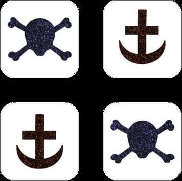 Piraat Mini Glittertattoo Sjabloon