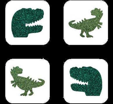 Dino Mini Glittertattoo Sjabloon