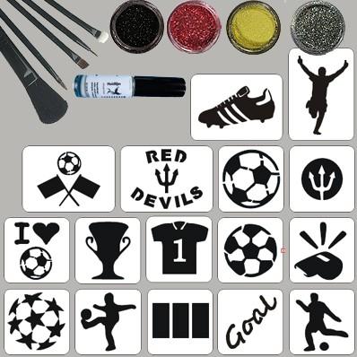 Voetbal Belgie Glittertattoo Set