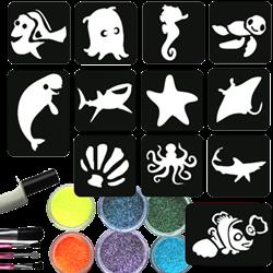 Dory & Nemo Glittertattoo Set