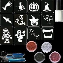 Halloween Glittertattoo Set