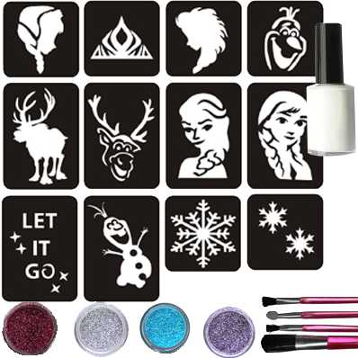 Frozen Glittertattoo Set