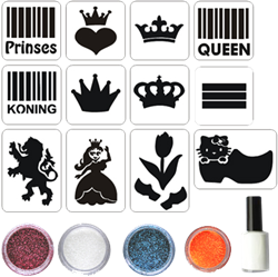 Konings Glittertattoo Set