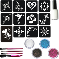 Lady Glittertattoo Set