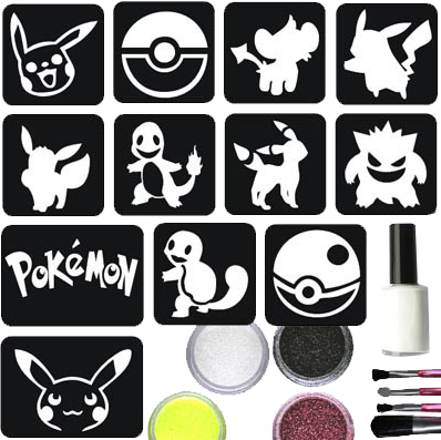 Pokemon Glittertattoo Set