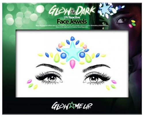 Glow in the dark face jewels ster