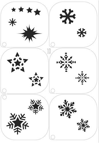 Schminksjablonenset sneeuw