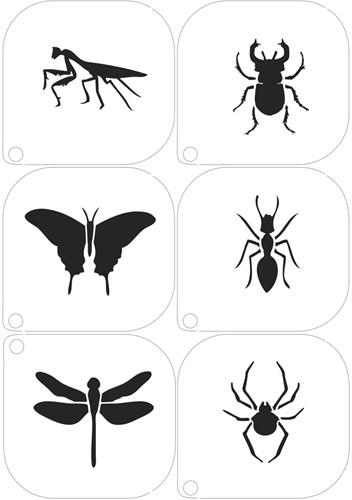 Schminksjablonenset Insecten