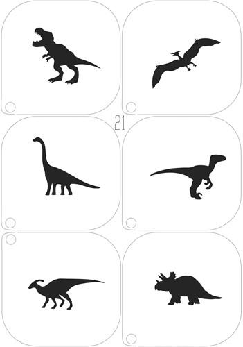 Schminksjablonenset Dinosaurus