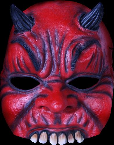 Duivel half masker halloween