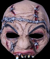 Prikkeldraad zombie half masker halloween