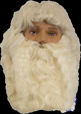 Kerstman baardstel en pruik deluxe